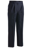 Women's Pleated Polyester Pant Dark Navy Thumbnail