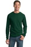 Moisture Management 50/50 Cotton / Poly Long Sleeve T-shirt Forest Green Thumbnail