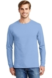 Tagless 100 Comfortsoft Cotton Long Sleeve T-shirt Light Blue Thumbnail