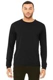BELLACANVAS Unisex Jersey Long Sleeve Tee Solid Black Triblend Thumbnail