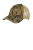 Unstructured Camouflage Mesh Back Cap Mossy Oak Break UP Country with Tan Thumbnail