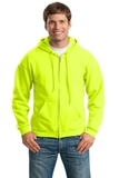 Full-zip Hooded Sweatshirt Safety Green Thumbnail
