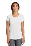 Women's New Era Series Performance Scoop Tee White Solid Thumbnail