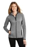 Women's Eddie Bauer Full-Zip Heather Stretch Fleece Jacket Grey Heather Thumbnail