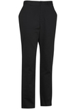 Edwards Men's Flat Front Slim Chino Pant Black Thumbnail