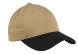 2-tone Brushed Twill Cap Khaki with Black Thumbnail