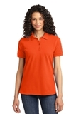 Women's 50/50 Pique Polo Orange Thumbnail