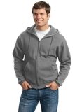 Super Sweats Full-zip Hooded Sweatshirt Oxford Thumbnail