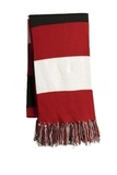 Spectator Scarf True Red with White and Black Thumbnail