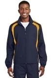 Colorblock Raglan Jacket True Navy with Gold Thumbnail