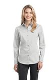 Women's Stretch Poplin Shirt White Thumbnail