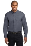 Long Sleeve Easy Care Shirt Steel Grey with Light Stone Thumbnail