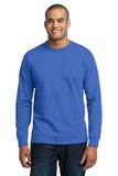Long Sleeve 50/50 Cotton / Poly T-shirt Royal Thumbnail
