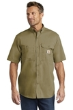 Carhartt Force Ridgefield Solid Short Sleeve Shirt Dark Khaki Thumbnail