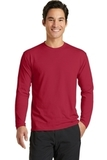Long Sleeve Essential Blended Performance Tee Red Thumbnail