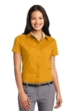 Women's Short Sleeve Easy Care Shirt Athletic Gold with Light Stone Thumbnail