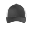 Low-Profile Snapback Trucker Cap Grey Steel with White Thumbnail