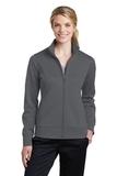 Women's Sport-Wick Fleece Full-Zip Jacket Dark Smoke Grey Thumbnail