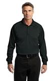 Long Sleeve Snag-Proof Tactical Performance Polo Black Thumbnail