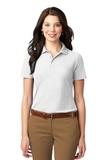 Women's Stain-resistant Polo Shirt White Thumbnail