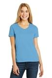 Women's V-neck T-shirt Aquatic Blue Thumbnail