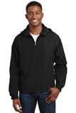 Hooded Raglan Jacket Black Thumbnail