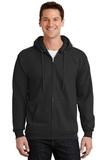 Full-zip Hooded Sweatshirt Jet Black Thumbnail