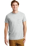 Ultra Blend 50/50 Cotton / Poly T-shirt With Pocket Ash Grey Thumbnail