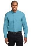 Tall Long Sleeve Easy Care Shirt Maui Blue Thumbnail