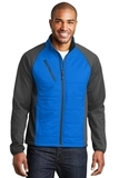 Hybrid Soft Shell Jacket Skydiver Blue with Grey Steel Thumbnail