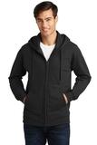 Port & Company Fan Favorite Fleece Full-Zip Hooded Sweatshirt Jet Black Thumbnail