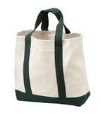 2-tone Shopping Tote Natural with Spruce Thumbnail