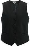 Redwood & Ross Signature Women's High-button Vest Black Thumbnail