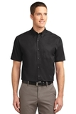 Short Sleeve Easy Care Shirt Black with Light Stone Thumbnail