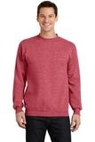 7.8-oz Crewneck Sweatshirt Heather Red Thumbnail