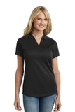 Women's Diamond Jacquard Polo Black Thumbnail