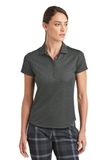 Women's Nike Golf Dri-FIT Crosshatch Polo Anthracite with Black Thumbnail