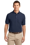 Tall Silk Touch Polo Shirt With Pocket Navy Thumbnail