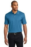 Performance Fine Jacquard Polo Shirt Ocean Blue Thumbnail