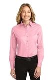 Women's Long Sleeve Easy Care Shirt Light Pink Thumbnail