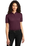 Women's Dry Zone Ottoman Polo Shirt Maroon Thumbnail