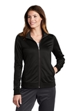 Ladies Tricot Track Jacket Black with Black Thumbnail
