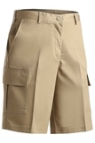 Women's Flat Front Cargo Short Tan Thumbnail