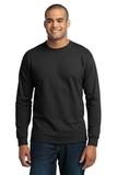 Long Sleeve 50/50 Cotton / Poly T-shirt Jet Black Thumbnail