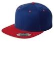 Flat Bill Snapback Cap True Royal with True Red Thumbnail