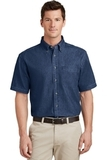 Short Sleeve Value Denim Shirt Ink Blue Thumbnail