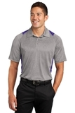 Heather Colorblock Contender Polo Vintage Heather with Purple Thumbnail