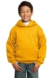 Youth Pullover Hooded Sweatshirt Gold Thumbnail