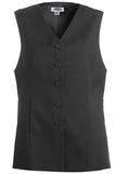 Women's Polyester Tunic Vest Black Thumbnail