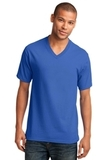 5.4-oz 100 Cotton V-neck T-shirt Royal Thumbnail